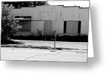 Boarded Up - Black And White Greeting Card