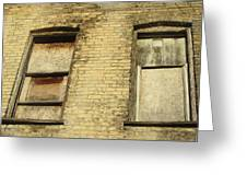 Boarded Windows 2 Greeting Card