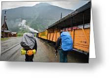 Boarding The Durango Silverton Narrow Greeting Card