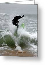 Boardskimming - Into The Surf Greeting Card
