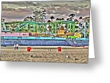 Sand And Amusement Greeting Card