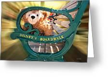 Boardwalk Bear Greeting Card