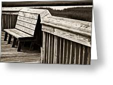 Boardwalk Bench Greeting Card