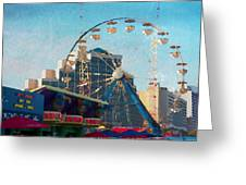 Boardwalk Ferris  Greeting Card