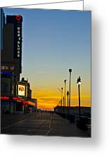 Boardwalk House Of Blues At Sunrise Greeting Card