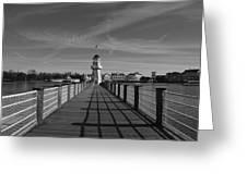 Boardwalk Lighthouse 1 Greeting Card