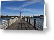 Boardwalk Lighthouse Greeting Card