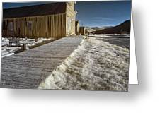 Frost On The Boardwalk Greeting Card