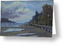 Boardwalk On Vashon Island Greeting Card
