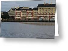 Boardwalk Panorama Walt Disney World Greeting Card