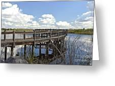 Boardwalk Reflections Greeting Card