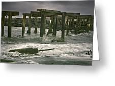 Boardwalk Remnants Greeting Card