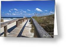 Boardwalk To Paradise Greeting Card