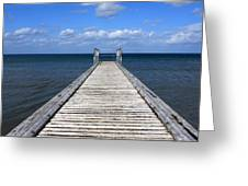 Boardwalk To The Ocean Greeting Card
