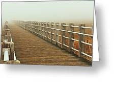 Boardwalk To The Unknown Greeting Card