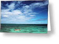 Boat And Sea Greeting Card