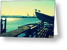 Boat At Alki Beach Greeting Card