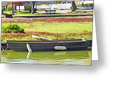 Boat At The Pond Greeting Card