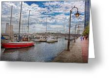 Boat - Baltimore Md - One Fine Day In Baltimore  Greeting Card