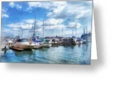 Boat - Boat Basin Fells Point Greeting Card