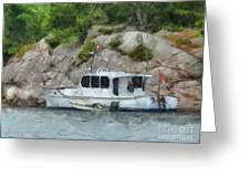 Boat Break Greeting Card