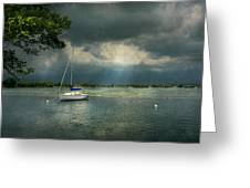 Boat - Canandaigua Ny - Tranquility Before The Storm Greeting Card