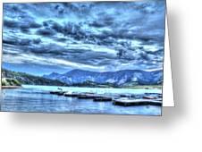 Boat Dock At Holter Lake Greeting Card