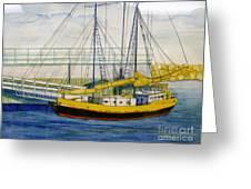 Boat Dock At Kenosha Wisconsin Harbor Greeting Card