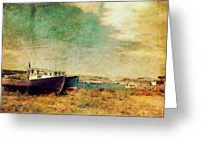 Boat Dreams On A Hill Greeting Card