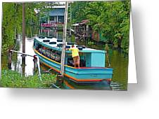 Boat For Transportation On Canals In Bangkok-thailand Greeting Card