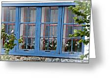 Boat House Windows Greeting Card