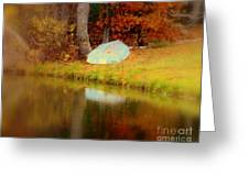 Boat  In Autumn In Wilmington Greeting Card
