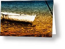 Boat In Dangerous Waters Greeting Card