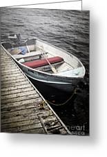Boat In Fog Greeting Card by Elena Elisseeva