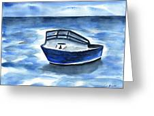 Boat In Grand Cayman Greeting Card