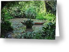 Boat In Jungle Greeting Card