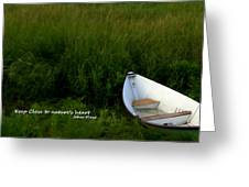 Boat In The Marsh Greeting Card