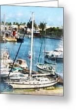 Boat - King's Wharf Bermuda Greeting Card