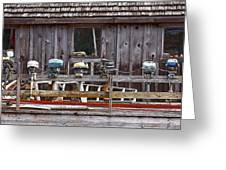 Boat Motors Going Nowhere Greeting Card