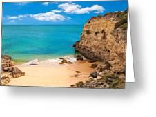Boat On Beach Algarve Portugal Greeting Card