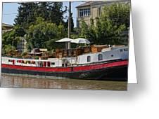 Boat On Canal Du Midi Homps France Dsc01717  Greeting Card