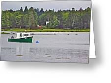 Boat On Cove In Glen Margaret-ns  Greeting Card
