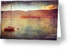 Boat On Lake Maggiore Greeting Card