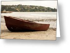 Boat On Shore 02 Greeting Card
