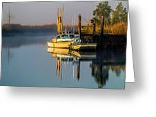 Boat On The Creek Greeting Card