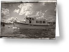 Boat On The Water Greeting Card