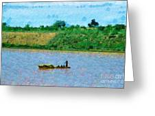 Boat Painting Greeting Card