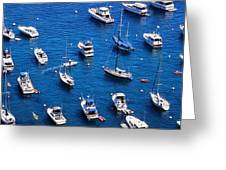 Boat Parking Greeting Card