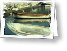Boat Pier Greeting Card