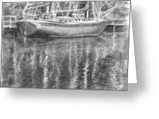 Boat Reflection Greeting Card